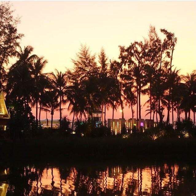 Sunset over Angsana Laguna Phuket