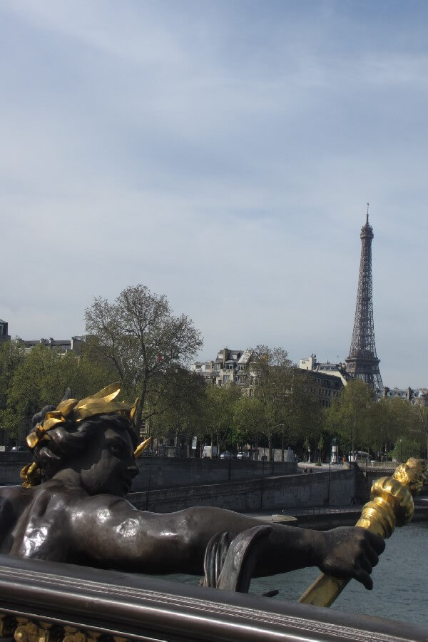 Eiffel Tower from the Pont Alexandre III Paris - More Paris tourist scams you need to know