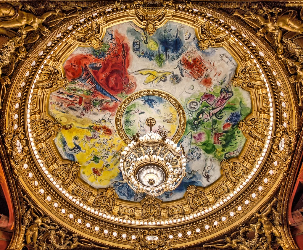 The Chagall Ceiling at the Opera Garnier Watching rehearsals at the Opera Garnier