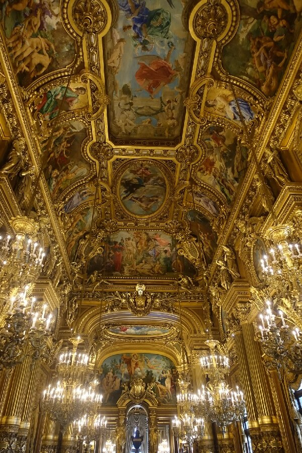 Painted ceilings in the Opera Garnier Paris Watching rehearsals at the Opera Garnier