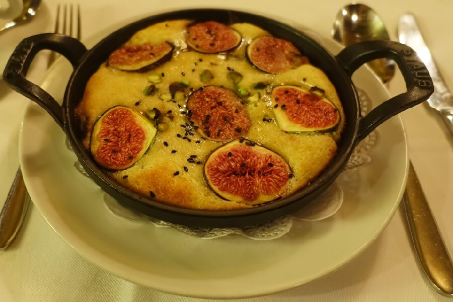 Clafoutis in a Paris brasserie Best brasserie foods in Paris