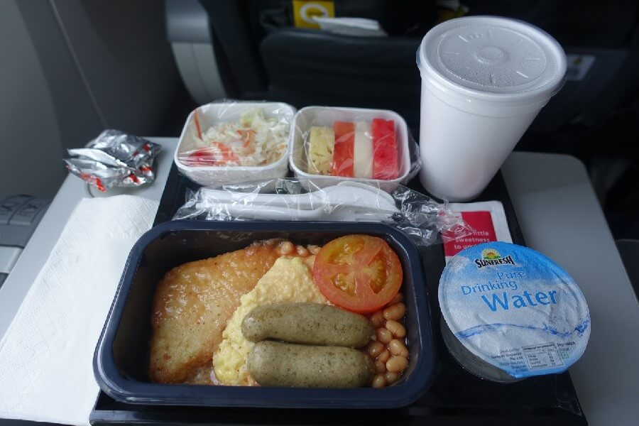 Scoot Biz breakfast tray - Scoot Business Class Review - is it really the Biz?