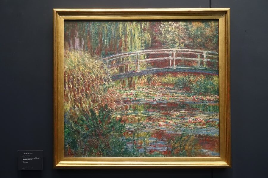 Painting of Monet's Japanese bridge at Giverny Making a day trip to Giverny from Paris
