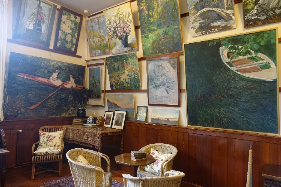 Art work inside Monet's house at Giverny