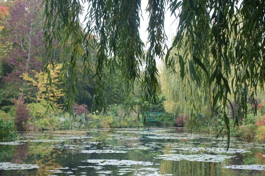 Monet's lilypond and Japanese bridge at Giverny Making a day trip to Giverny from Paris
