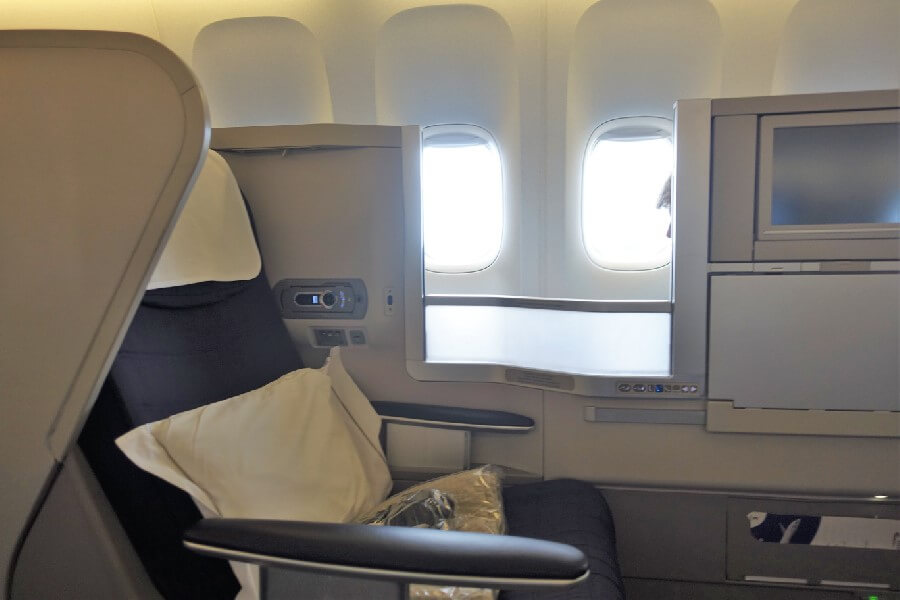 British Airways Business Class review British Airways Club world seat