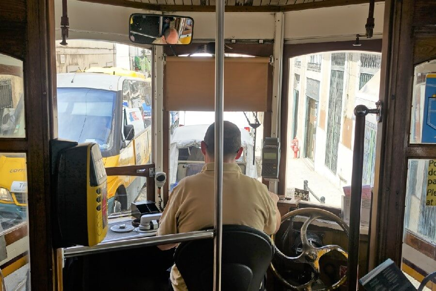 Riding on a tram in Lisbon Exploring the Alfama: a fishing village in Lisbon