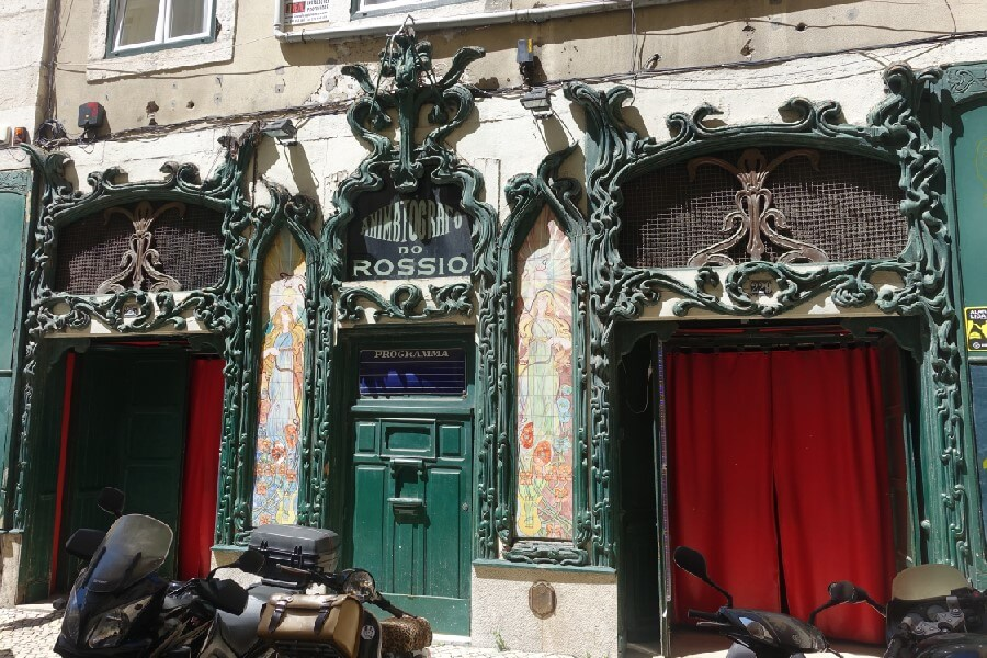 The best food walk in Lisbon with Culinary Backstreets Art Nouveau cinema in the Baixa of Lisbon