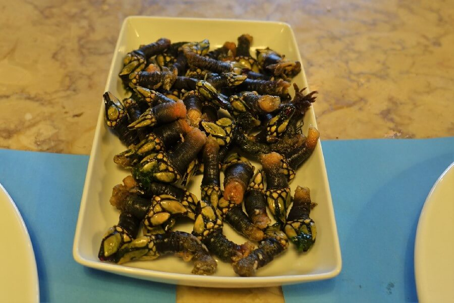 The best food walk in Lisbon with Culinary Backstreets barnacles on a plate in Lisbon