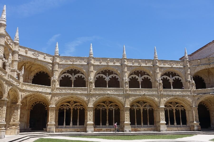 Cloisters of the Jeronimos Monastery in Belem Best things to do in Lisbon in 48 hours frugal first class travel