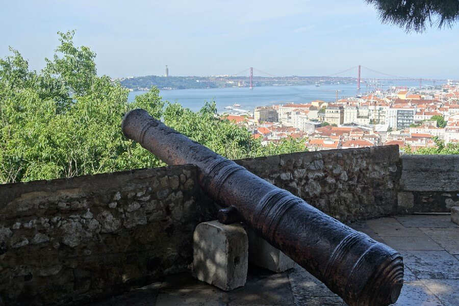 Best things to do in Lisbon view from Sao Jorge castle Lisbon Portugal frugal first class travel