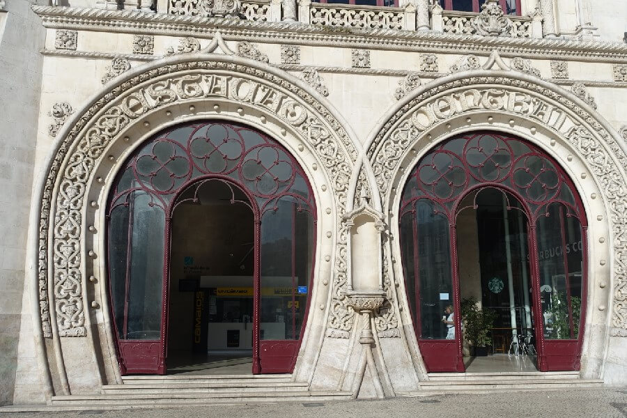 Entrance to the Rossio railway station Best things to do in Lisbon in 48 hours frugal first class travel