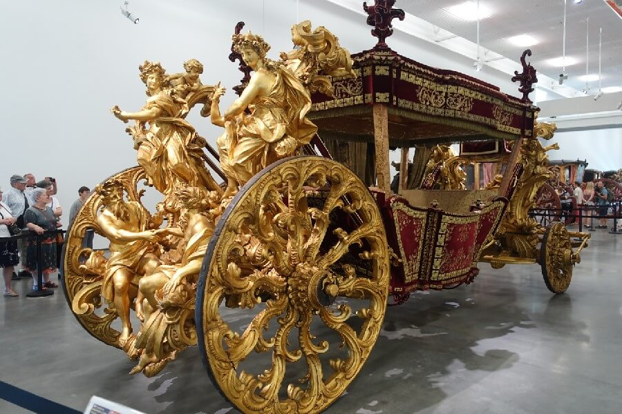 Baroque coach in the National Coach Museum Lisbon Portugal Best things to do in Lisbon in 48 hours frugal first class travel