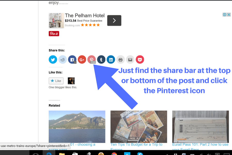 How to save a pin to Pinterest Use Pinterest to plan your vacation: a beginner's guide
