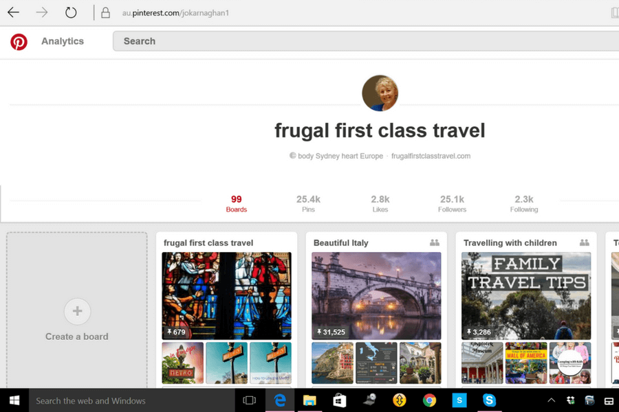 Pinterest profile Use Pinterest to plan your vacation: a beginner's guide