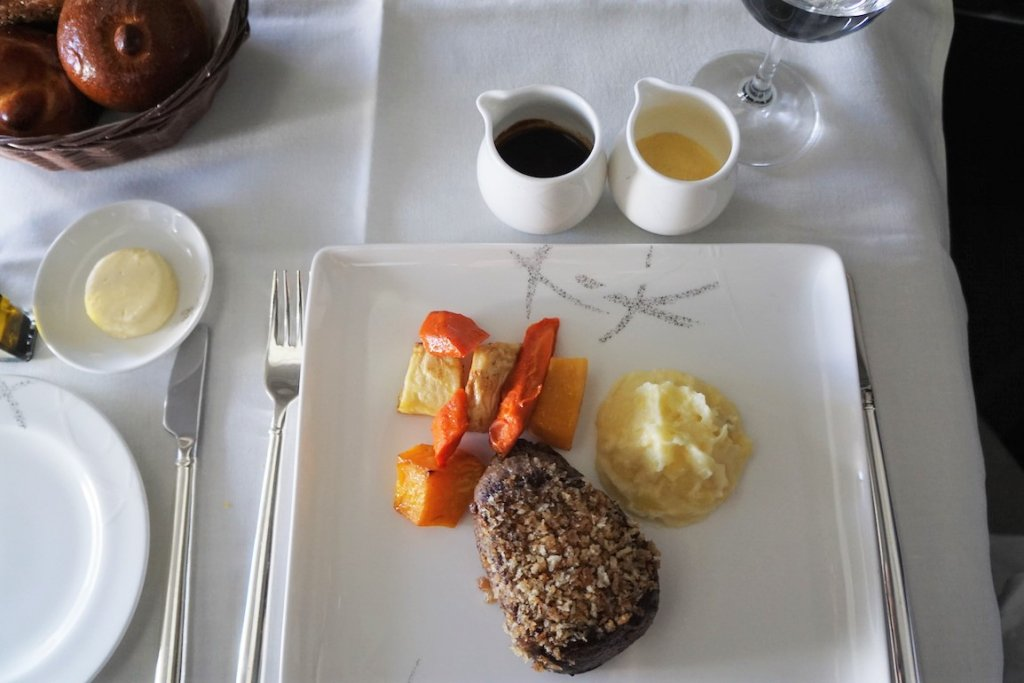 Around the world in 15 airline meals Cathay Pacific First Class meal frugal first class travel