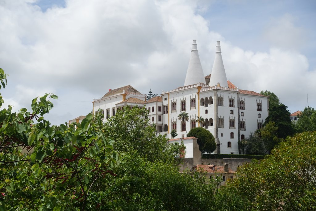 Exterior of the National Palace Sintra, The castles of Sintra: the best day trip from Lisbon frugal first class travel