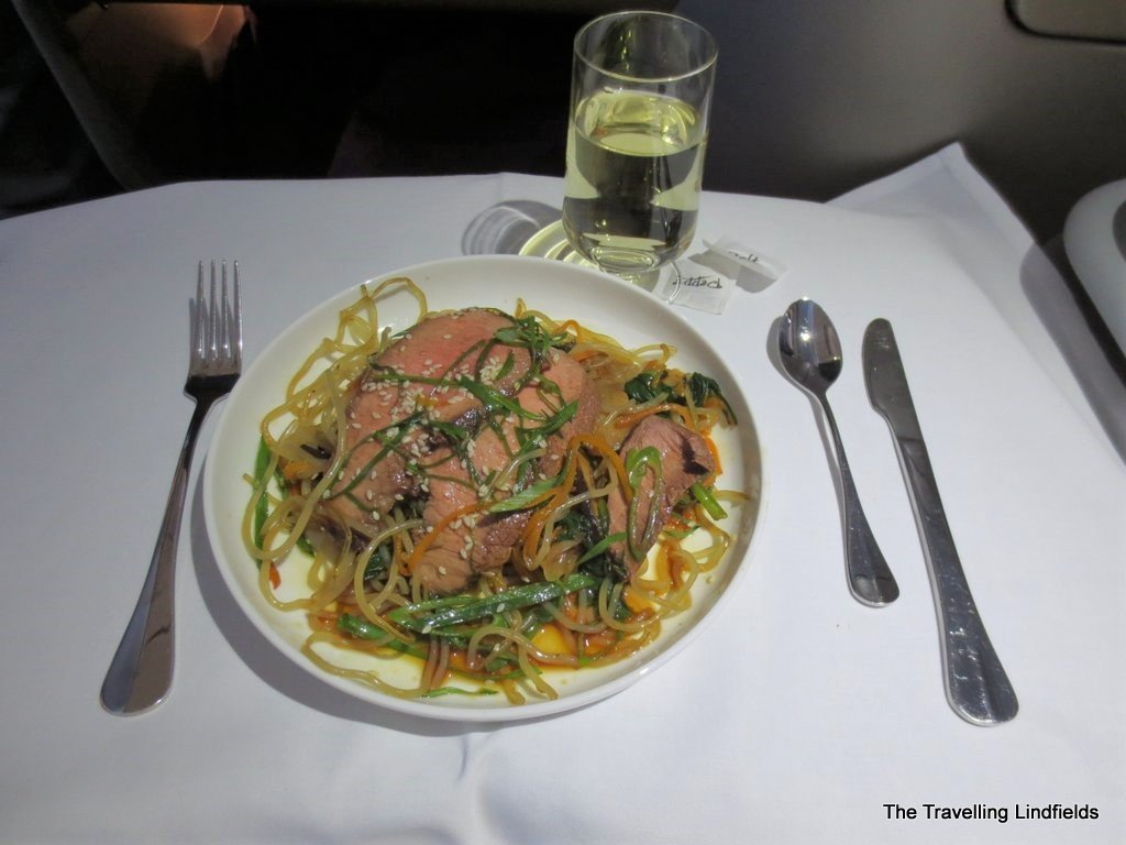 Around the world in 10 airline meals Qantas A330 Business Class meal Around the world in 10 airline meals