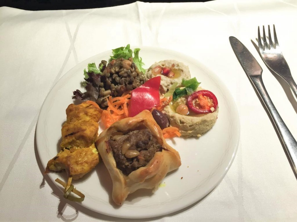 Around the world in 15 airline meals British Airways First Class Meal frugal first class travel