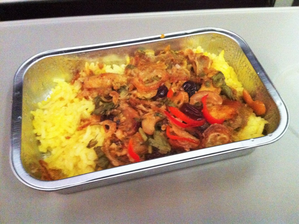 Around the world in 15 airline meals Malaysia Airlines Economy meal frugal first class travel