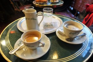 Cup of coffee at Les Deux Magots Paris Your guide to eating out in Paris