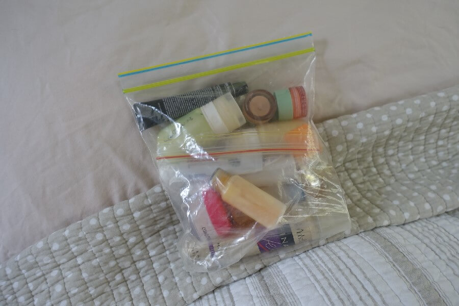 3-1-1 bag for carry on bag How to create a First Class amenity kit