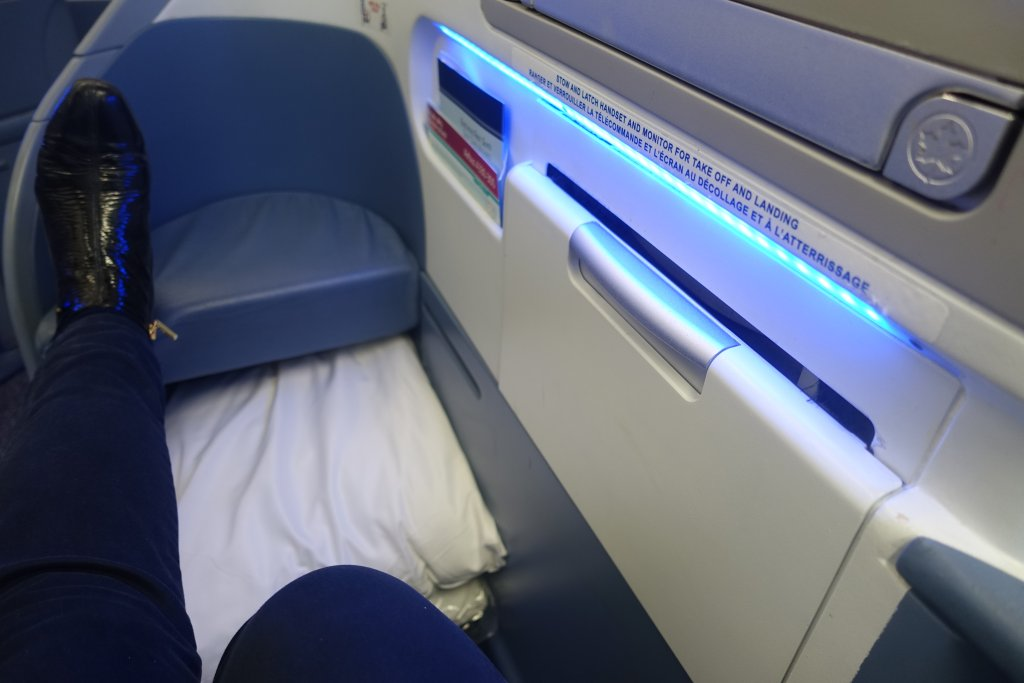 Air Canada Business Class seat Anxiety when flying: how to beat your fear of flying