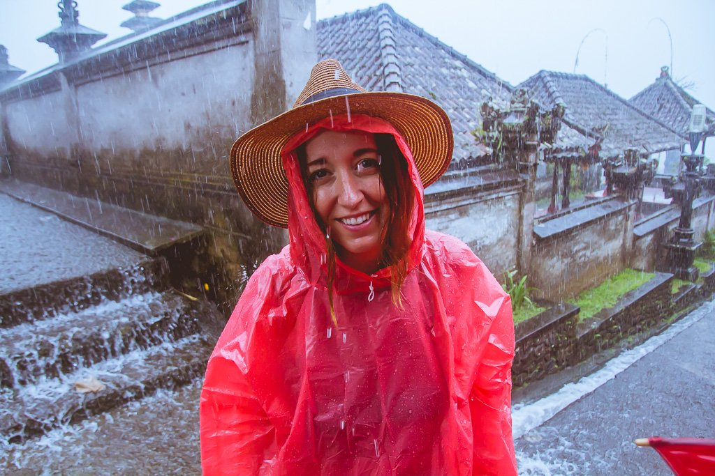 How to be a good travel companion raining in South East Asia