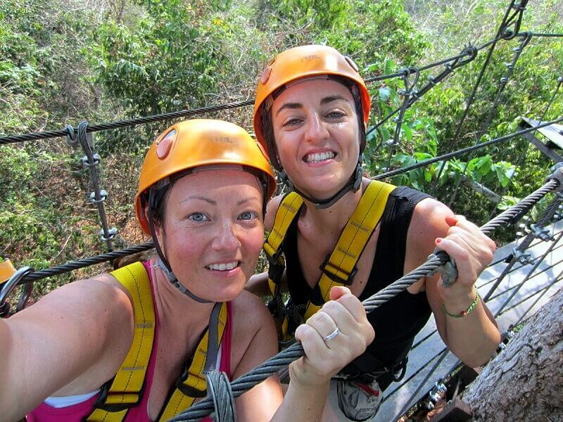 Ziplining in Siem Reap Cambodia