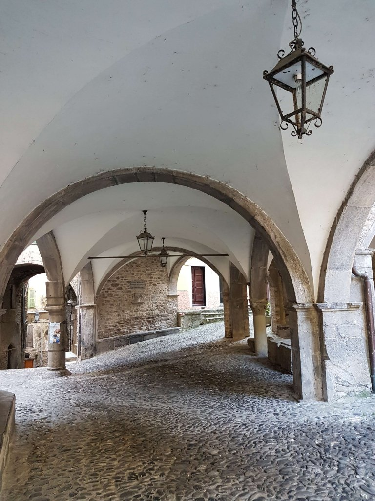 Cloister in Pigna, Italy Living like a queen at Liguria Holiday Homes in Pigna, Italy