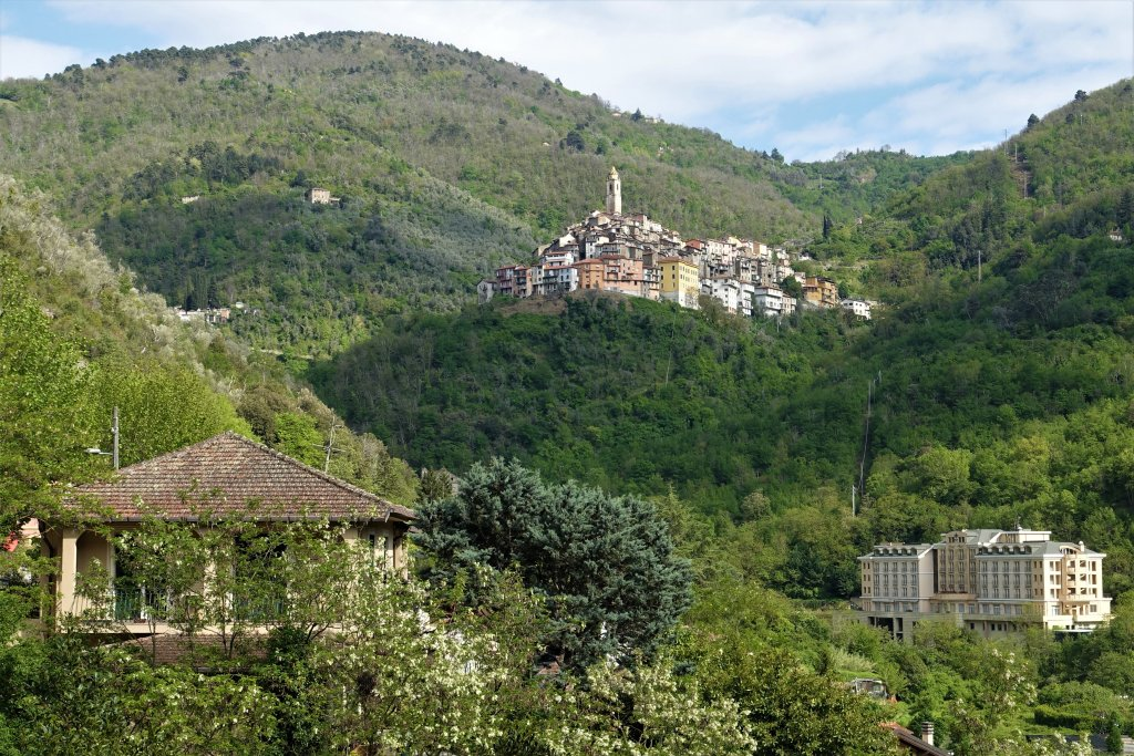 View of Santavittoria from Pigna, Liguria Living like a queen at Liguria Holiday Homes in Pigna, Italy
