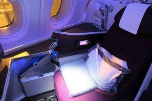 Qatar Airways Business Class seat
