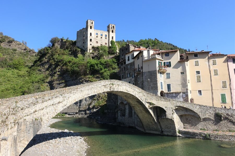 Cinque Valli Italy, the new Cinque Terre, Ponte Vecchio in Dolceacqua Liguria