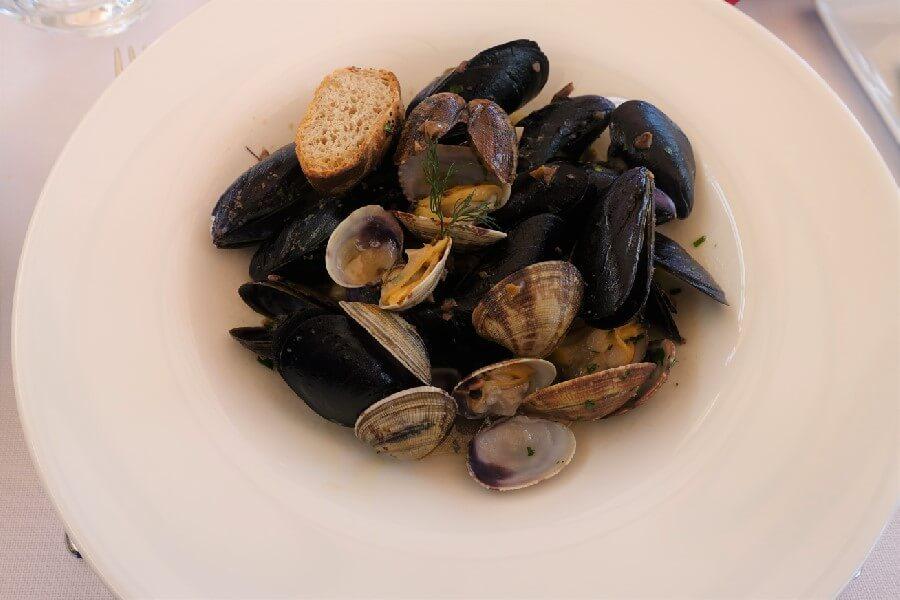 seafood appetiser San Remo Liguria Italy, food in Liguria Italy, Cinque Valli Italy, the new Cinque Terre