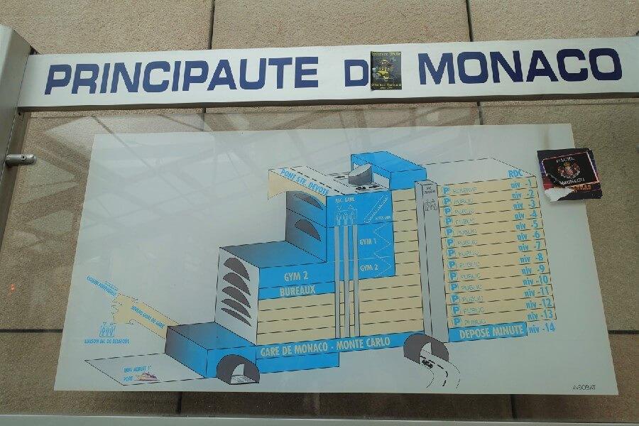 Map of Monaco train station