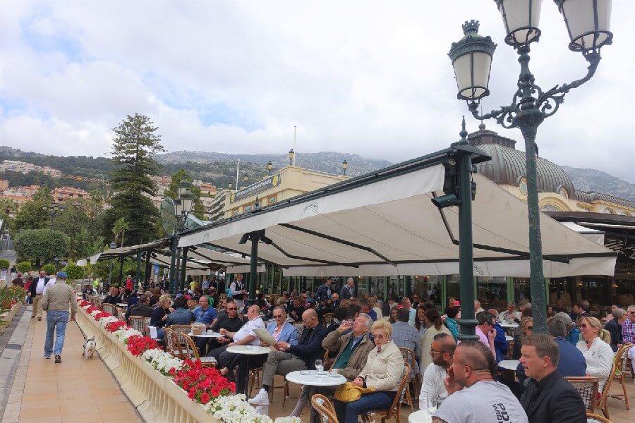 Terrace at the Cafe de Paris, Monaco