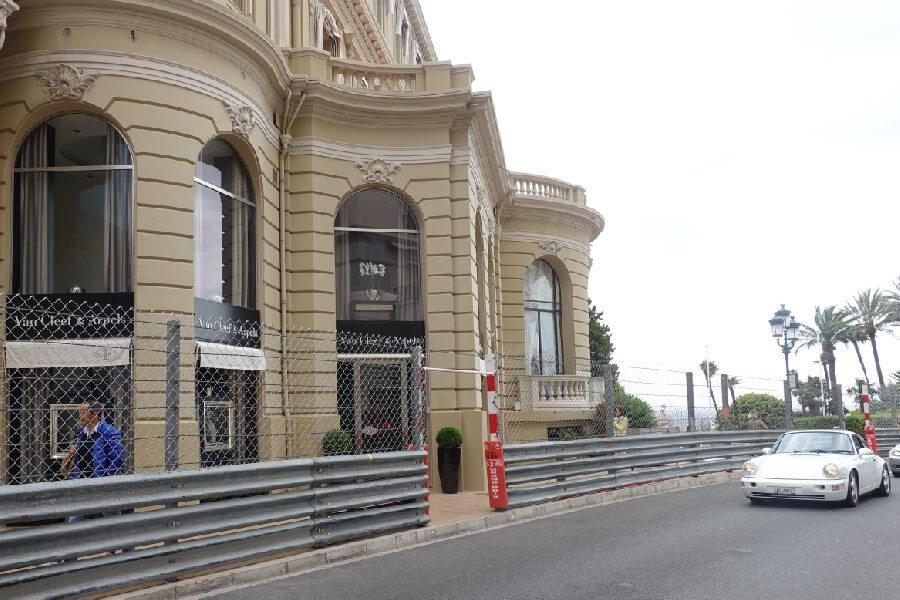 Porsche on the Monte-Carlo Formula 1 Grand Prix track Monaco
