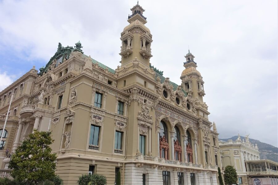 Rear facade of the Monte-Carlo Casino, Monaco
