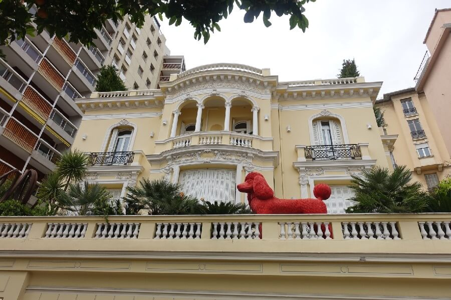 Traditional architecture in Monaco, traditional villa in Monte-Carlo