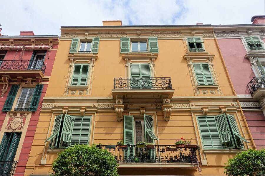 Traditional architecture in Monaco, day trip to Monaco
