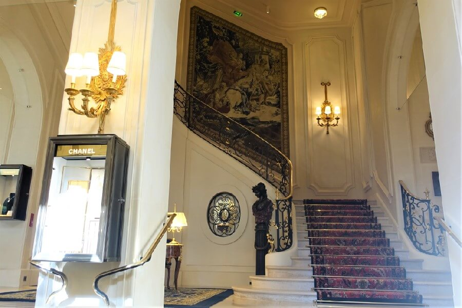 Stairway in the Ritz Hotel Paris