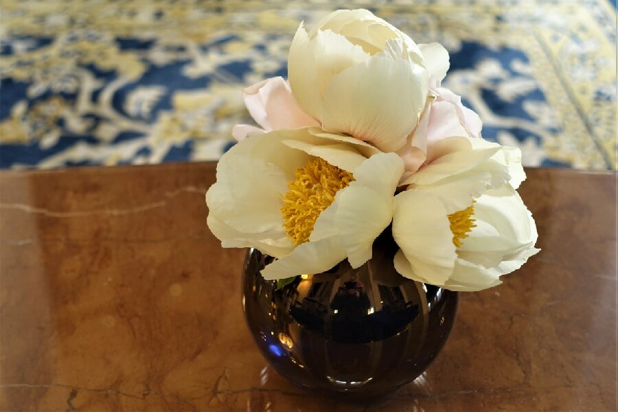 Vase of peonies Ritz Hotel Paris