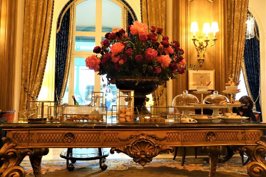 Afternoon tea table Salon Proust Ritz Hotel Paris