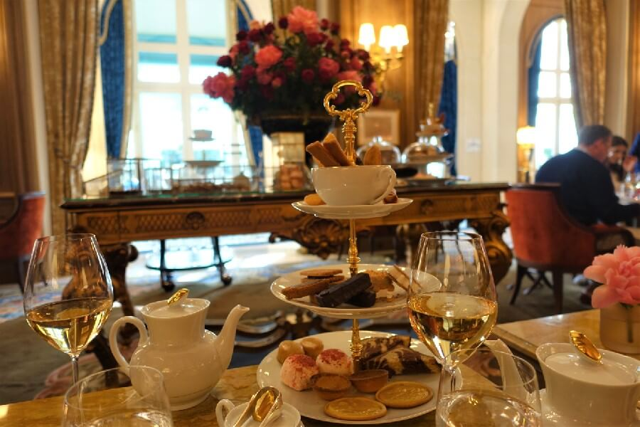 Afternoon tea table Ritz Hotel Paris Salon Proust