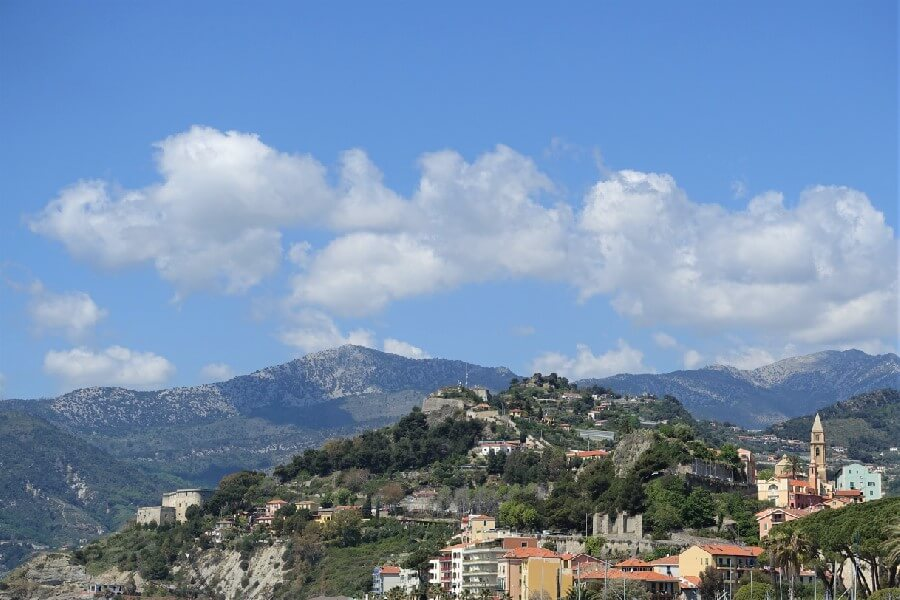 View from the Ventimiglia market, views of Ventimiglia old town