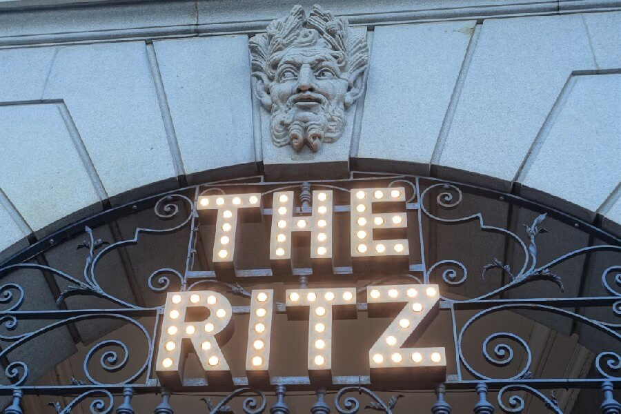 Sign Ritz Hotel London