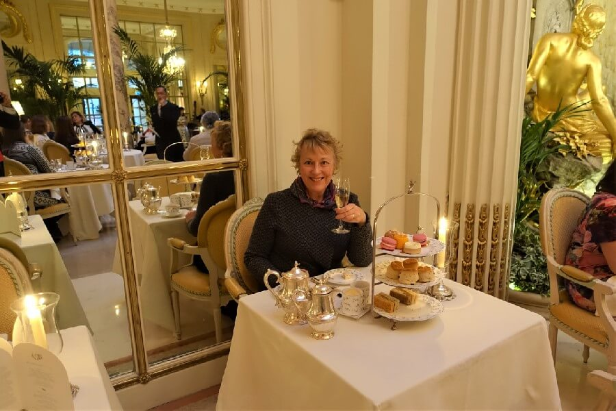 Afternoon tea table at the Ritz Hotel London
