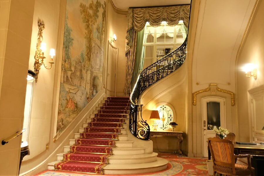 Staircase Ritz Hotel London Afternoon tea at the Ritz London