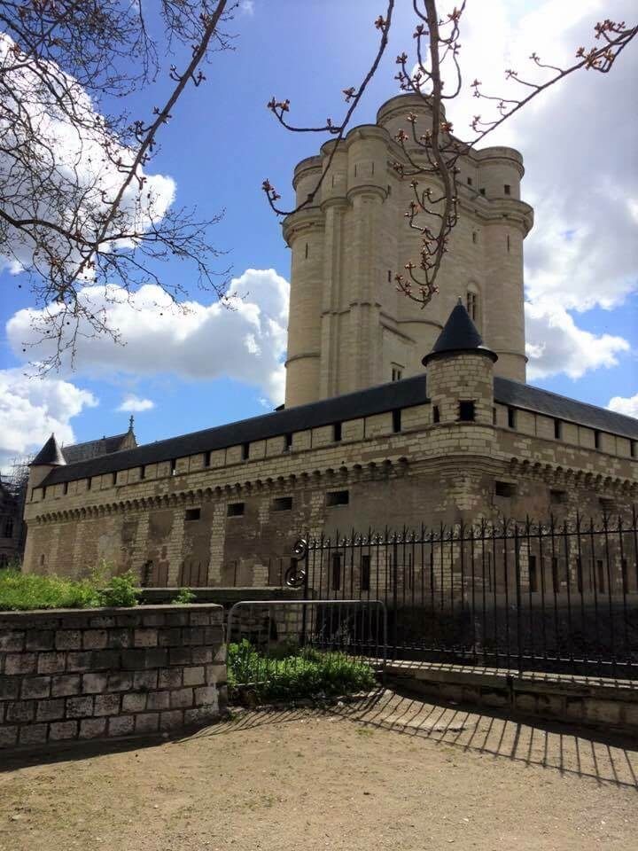 exterior of the Chateau de Vincennes Paris, tower of the Chateu de Vincennes Paris
