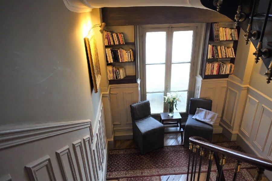 Library in the Hotel de la Porte Doree Paris France